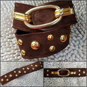 Accessories - Magid  Suede Contour Belt